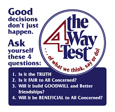 4 Way Test Speech Contest Rules - Rotary District 7450